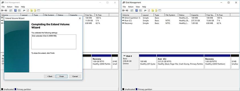 Hướng dẫn gộp ổ cứng qua công cụ Disk Management
