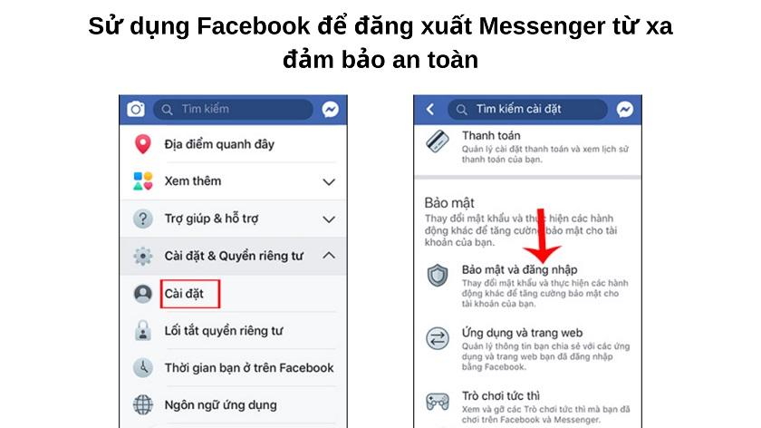 Cách đăng xuất Messenger trên điện thoại Samsung