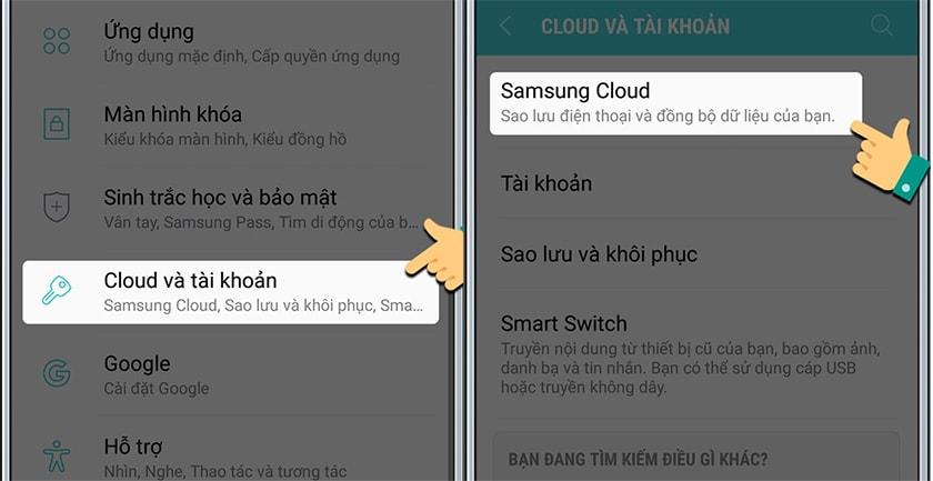 Cách đăng nhập lại tài khoản Samsung Account