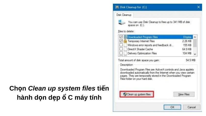 Dọn rác trên máy tính bằng Disk Cleanup