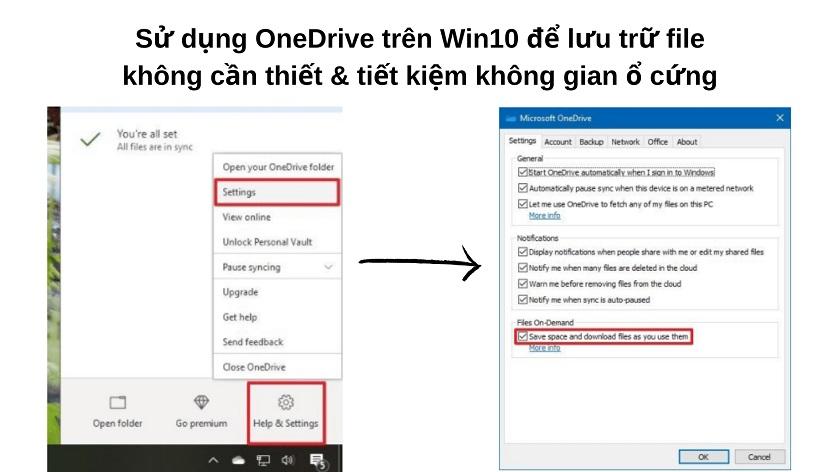 Cách dọn rác trên máy tính bằng phần mềm OneDrive
