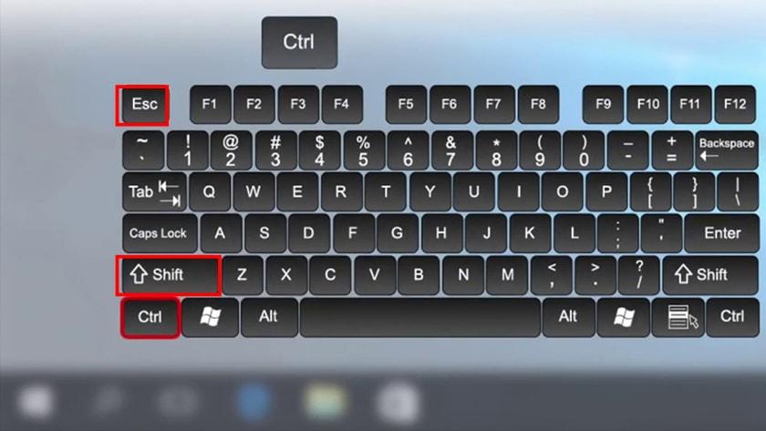 Cách bật Task Mangager bằng phím tắt