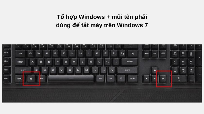 Tắt máy tính laptop bằng bàn phím trên hệ điều hành Windows 7