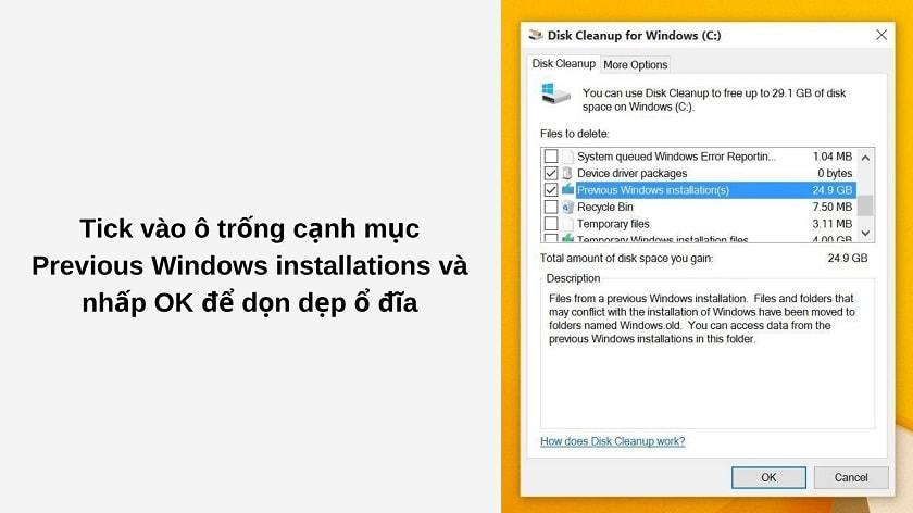 Cách xóa thư mục windows.old chính xác, nhanh chóng và đơn giản nhất