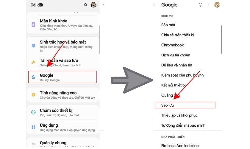 Khôi phục tin nhắn đã xóa bằng tập tin sao lưu của Google