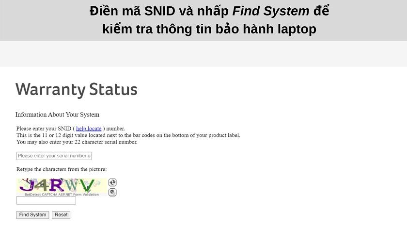 Hướng dẫn check bảo hành laptop Acer - Ảnh 2