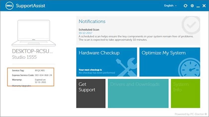 Sử dụng phần mềm Dell Support Assist