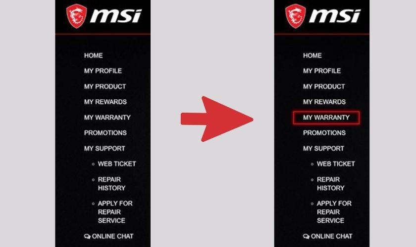 Hướng dẫn cách check bảo hành MSI