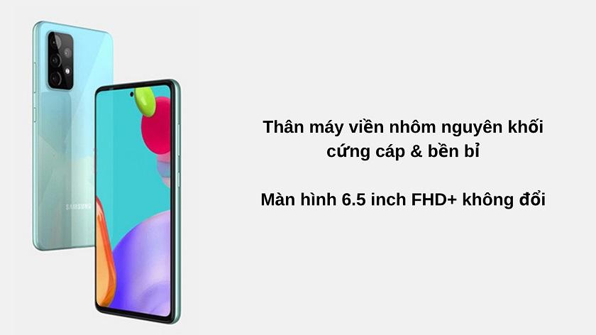 Thiết kế, màn hình Samsung A52 và A51