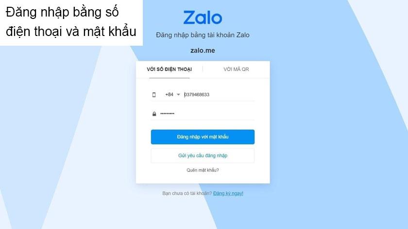 Cách truy cập Zalo trên web