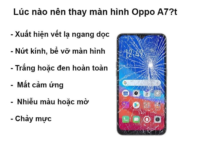 Lúc nào nên thay màn hình Oppo A7?