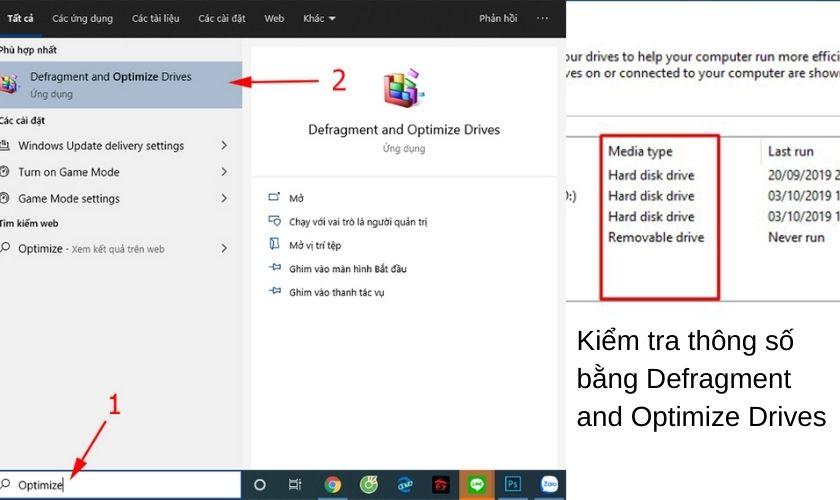 Kiểm tra ổ cứng laptop bằng Defragment and Optimize Drives