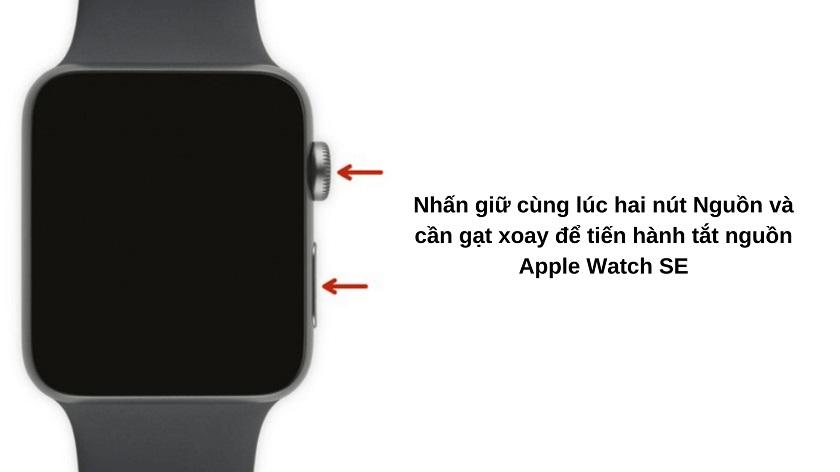 Tắt nguồn Apple Watch SE trước khi mang đi sửa chữa
