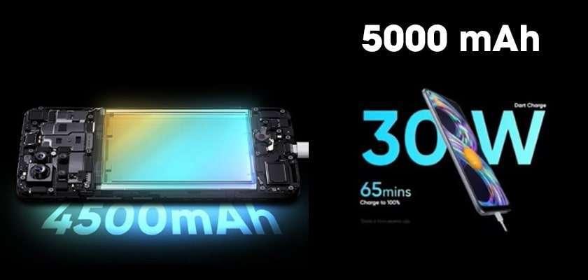 Realme 8 sở hữu pin khủng 5000 mAh