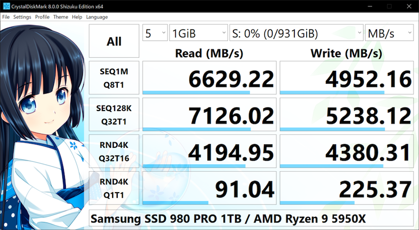 Phần mềm kiểm tra SSD CrystalDiskMark