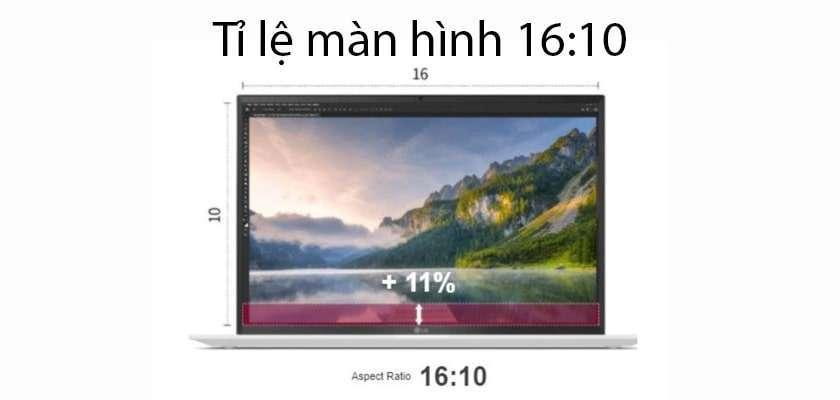 Thiết kế mỏng nhẹ, màn hình tỉ lệ 16:10
