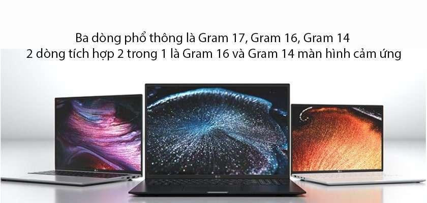 Có mấy phiên bản LG Gram 2021