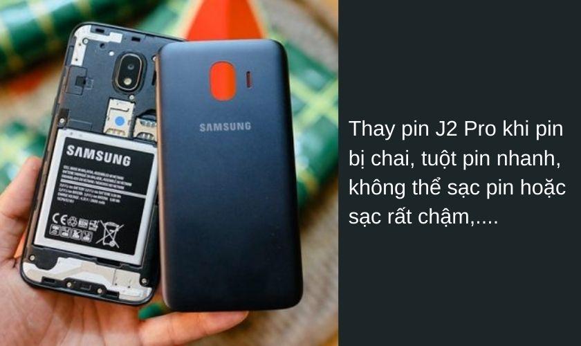 Vì sao phải thay pin điện thoại Samsung J2 Pro?