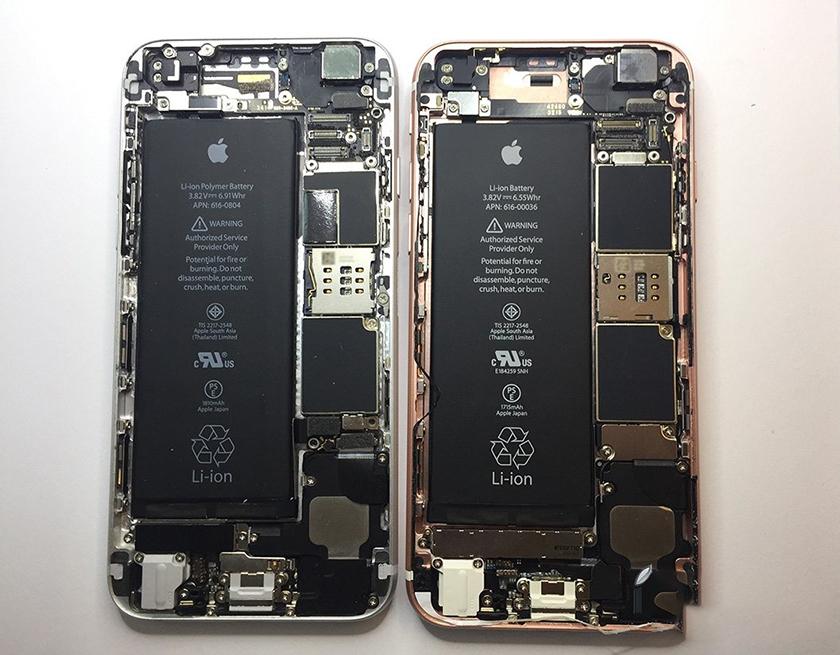 Pin iPhone 6 plus và 6s plus có giống nhau không