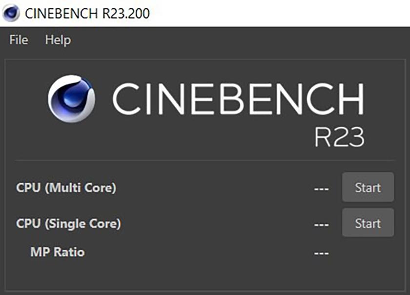 Sau khi tải xong phần mềm ép xung Cine Bench, tiến hành cài đặt theo hướng dẫn và chạy phần mềm lên