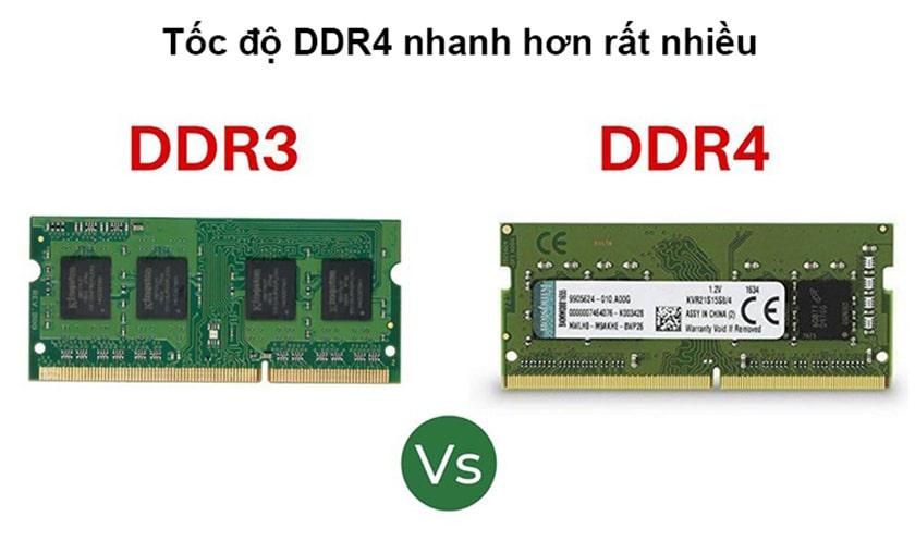 So sánh RAM DDR4 với các loại RAM tiền nhiệm