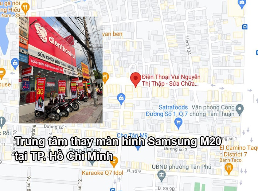Trung tâm thay màn hình Samsung M20 tại TP. Hồ Chí Minh