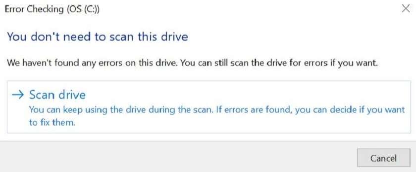 Kiểm tra ổ cứng bằng lệnh chkdsk trên Windows