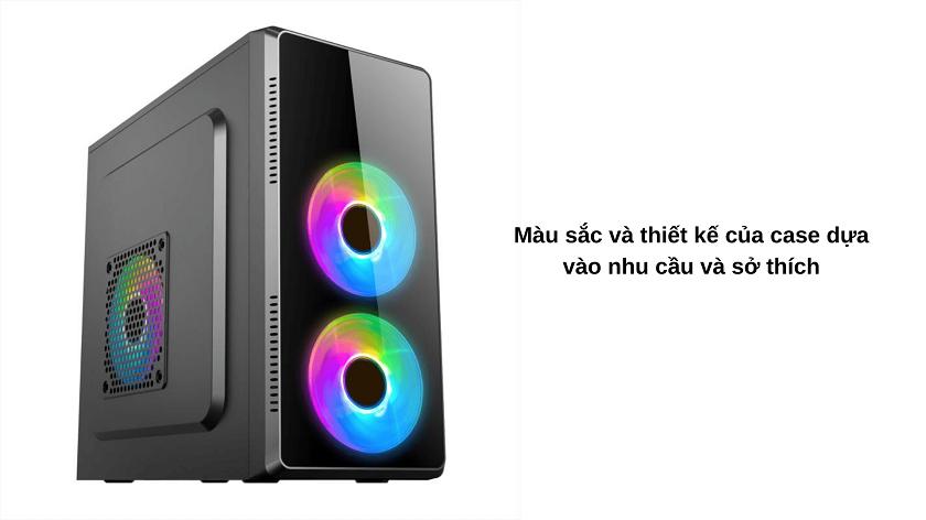 Chọn case máy tính theo màu sắc