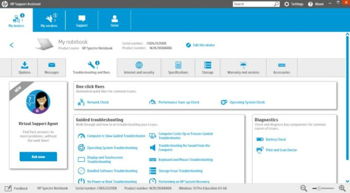 Kiểm tra chai pin với phần mềm quản lý pin laptop HP Battery Check