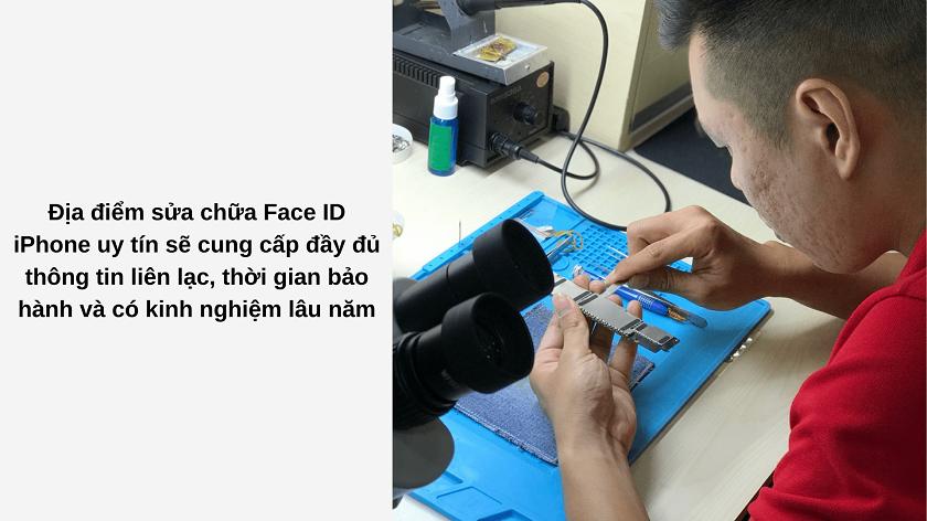 Những tiêu chí cần lưu ý khi chọn địa điểm sửa Face ID cho iPhone