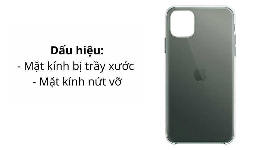 Dấu hiệu kính lưng iPhone 11 Pro Max hư hỏng