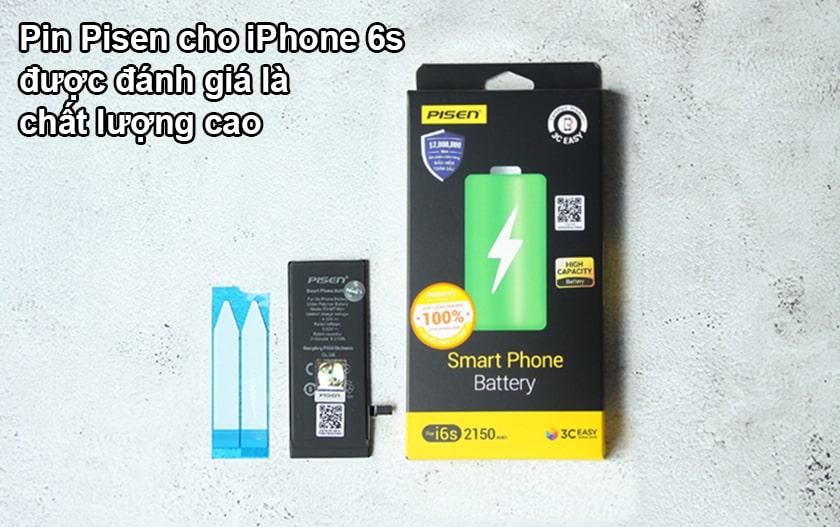Đánh giá pin Pisen cho iPhone 6s
