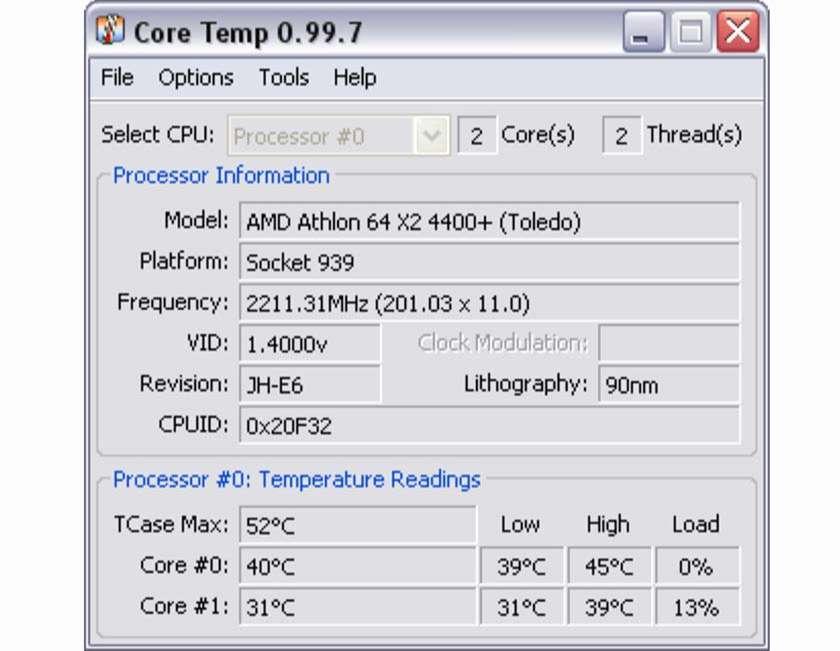 Phần mềm Core Temp