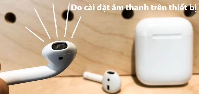 Airpods nghe được 1 bên do cài đặt setting âm thanh