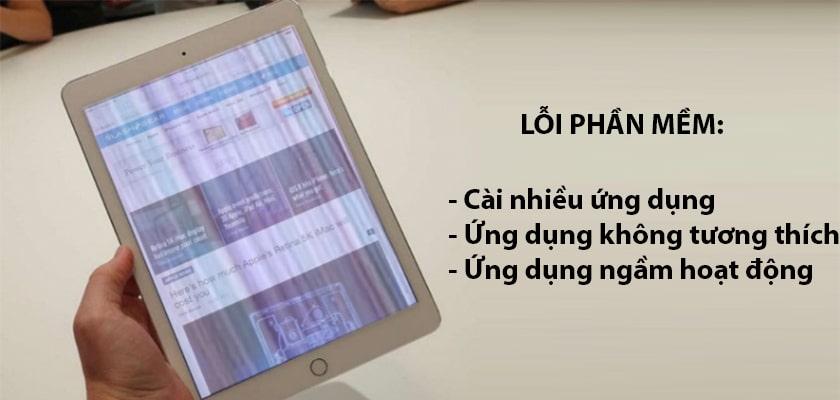 Nguyên nhân gây ra lỗi màn hình iPad bị sọc ngang, sọc dọc