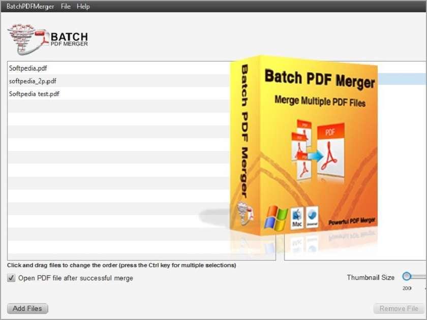 Nối file PDF với Batch Pdf Merge