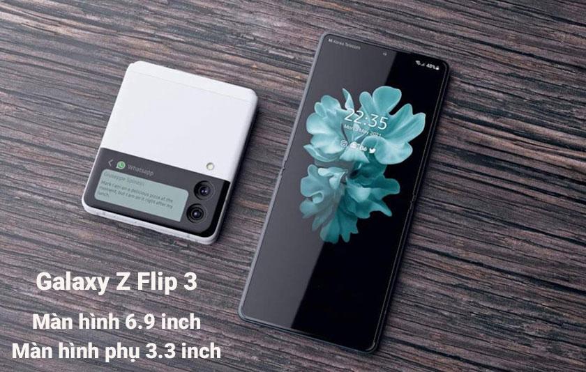 Màn hình của Galaxy Z Flip 3 và Z Flip