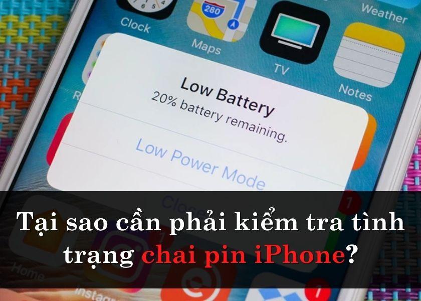 kiểm tra pin iPhone khi bị chai