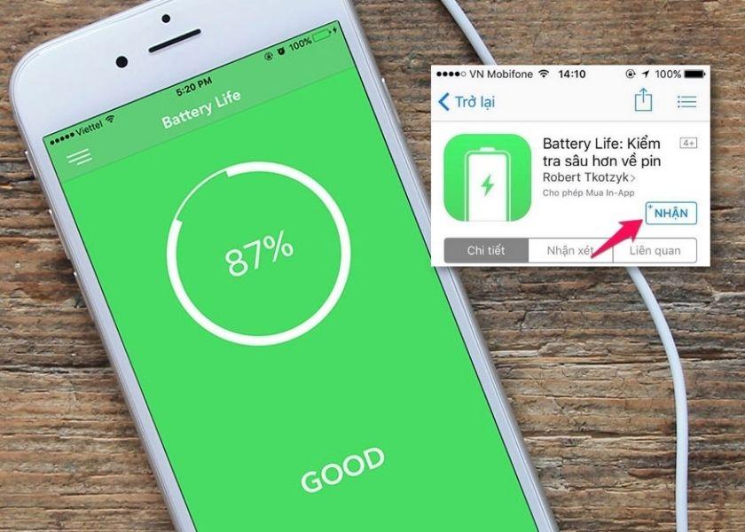 Sử dụng phần mềm Battery Life để kiểm tra pin iPhone