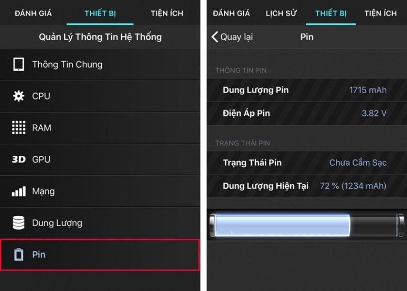 Kiểm tra pin iPhone bằng phần mềm Battery Testing