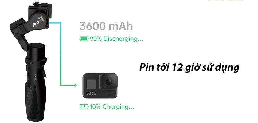 Dung lượng pin lên đến 12 giờ sử dụng