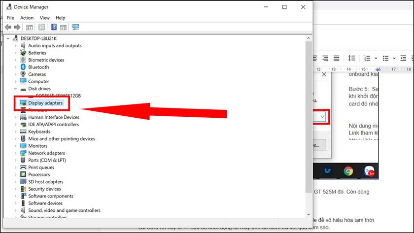 Sửa lỗi màn hình đen bằng cách vô hiệu quá card màn hình rời