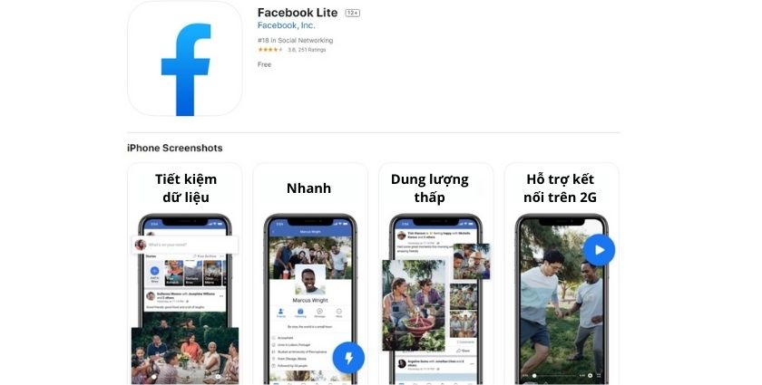 cách tải facebook lite cho iphone