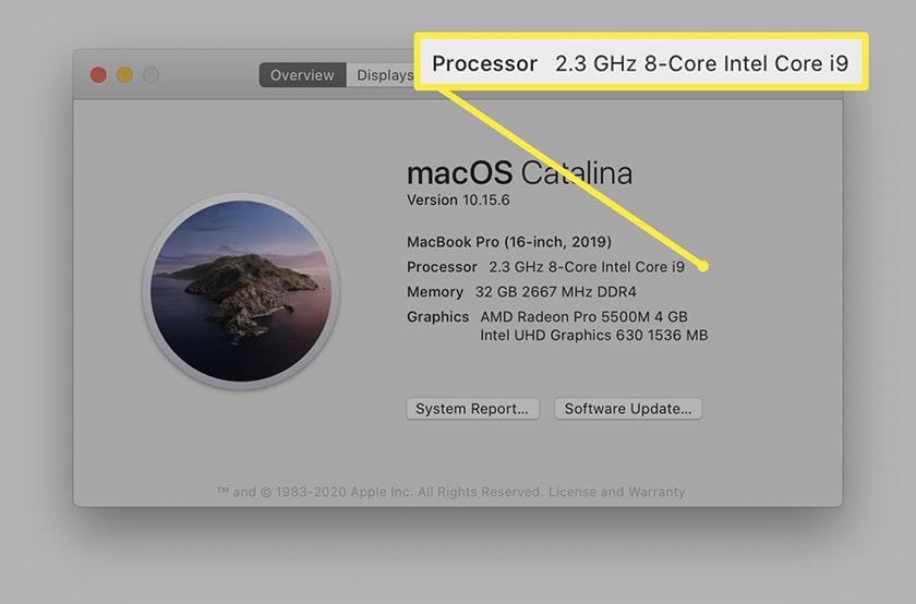 Cách kiểm tra tốc độ CPU của máy tính PC chạy hệ điều hành MacOS