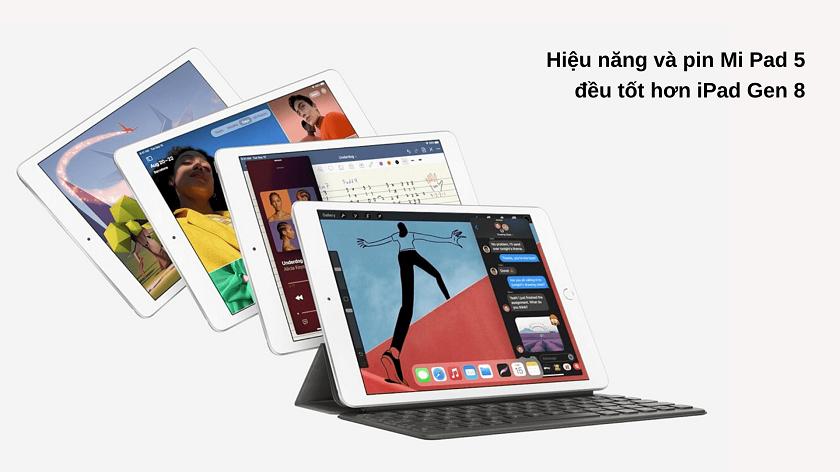 mi pad 5 và iPad Gen 8
