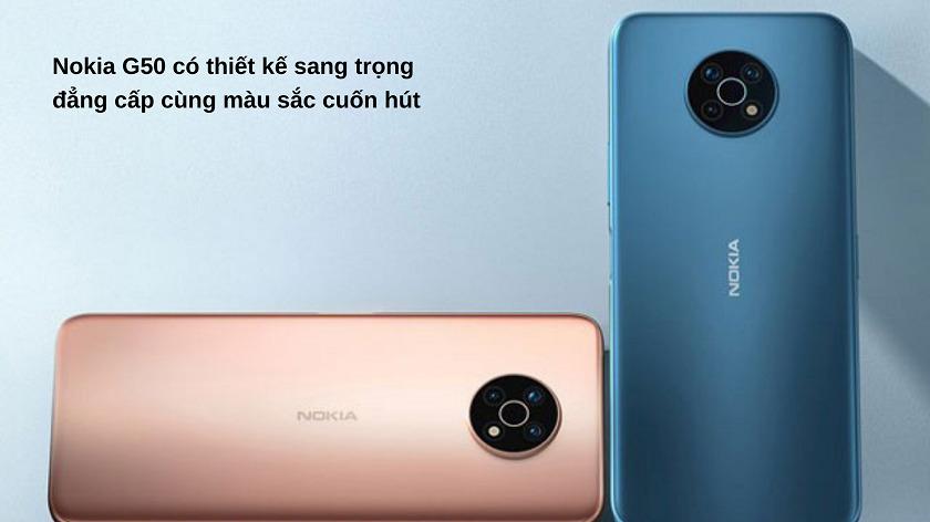 Điện thoại Nokia G50 mang thiết kế đẳng cấp vượt trội