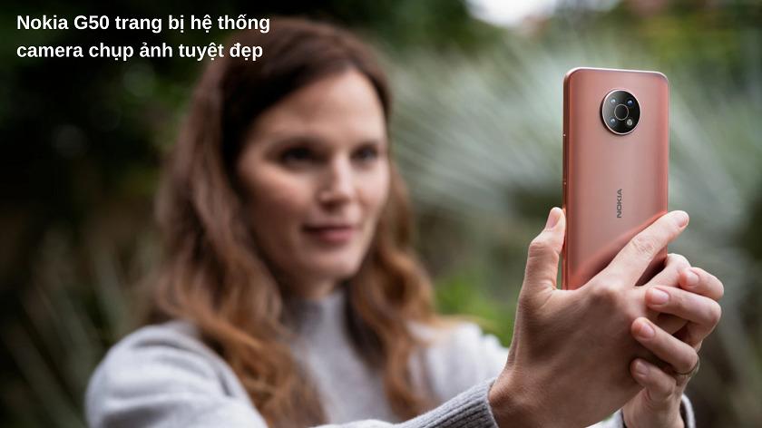Hệ thống camera điện thoại Nokia G50 ấn tượng